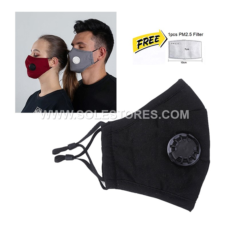 Adult Washable Reusable Cloth Face Mask Free 1 PM2.5  Filter
