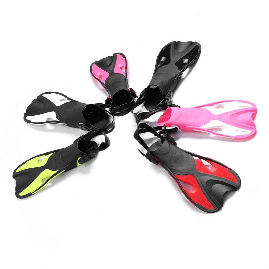 AF701 Adjustable Children Kids Snorkeling Fins Long Flippers Diving