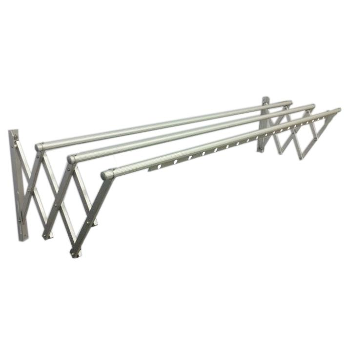 Beau AFCH636E Aluminum Retractable Wall Series Cloth Hanger With 3 Bars. U2039 U203a
