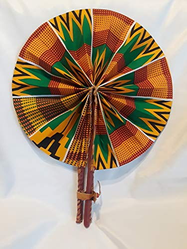 Home Kitchen Decorative Accessories Home Kitchen African Tv African Fabric Handmade Folding Fan African Hand Held Folding Fan Home Decor Accents Seiwanomori Jp