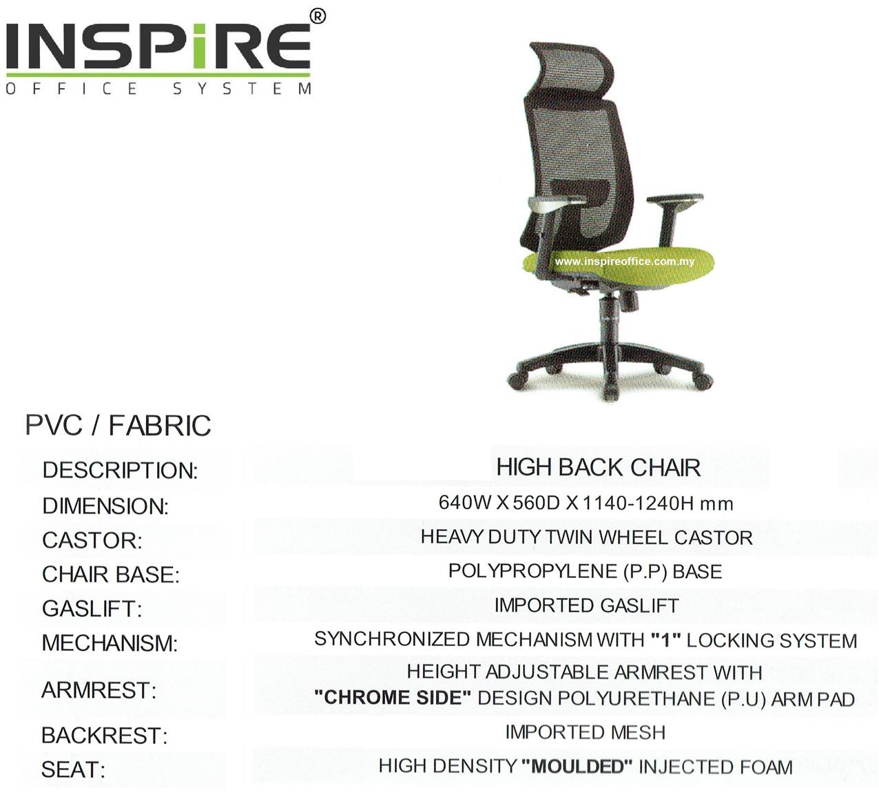 AGAPAN INS-2H High Back Mesh Office Chair