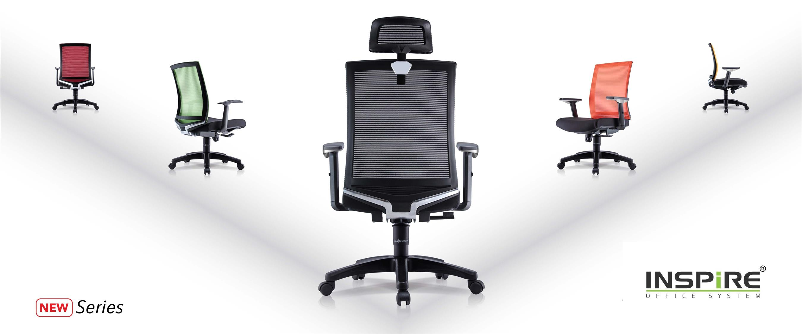 AGERA INS-1H  High Back Mesh Office Chair