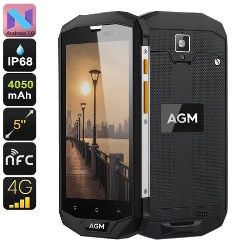 AGM A8 Android 7.0 4G Rugged Phone (WP-A8) ★