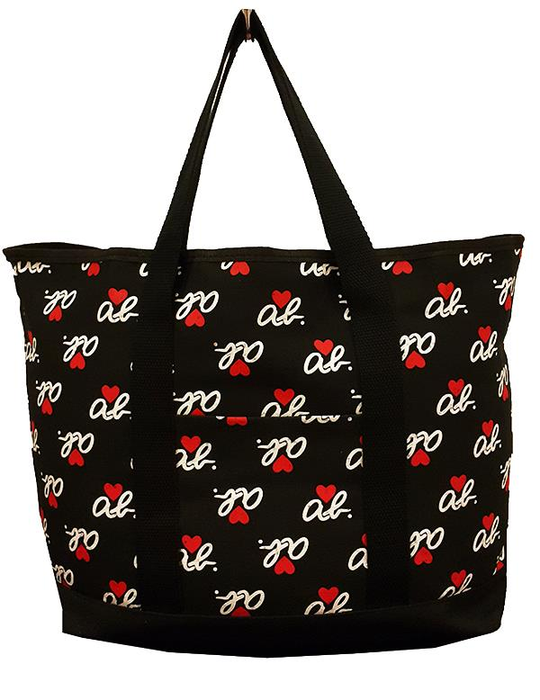 Agnes B Logo Love Canvas Lunch Per Tote Bag From An Magazine
