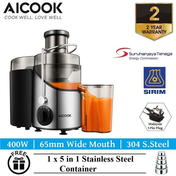 Aicook AMR526 65MM Wide Mouth BPA-FREE S.Steel Centrifugal Juicer
