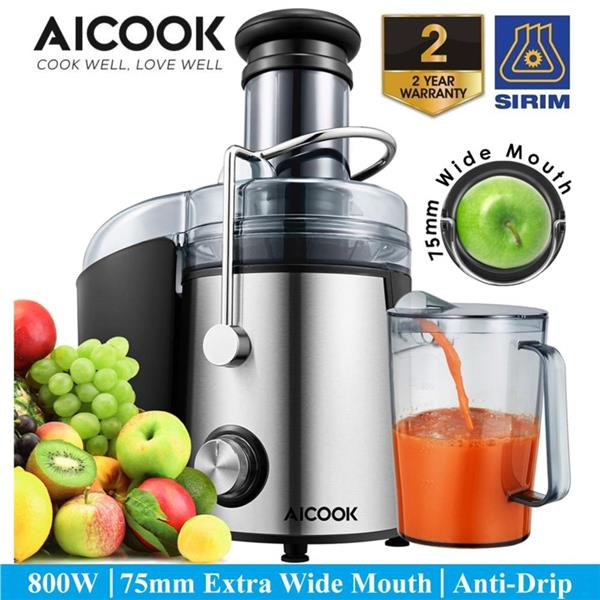 Aicook GS332 75MM Extra Large Feed Chute 800W Powerful Juicer Machine
