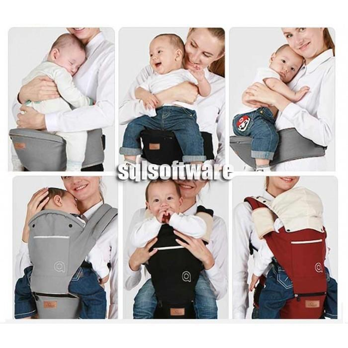 f15f11a3860 AIEBAO Detachable Hipseat Hip Seat Backpack Waist Baby Carrier Hat Bib