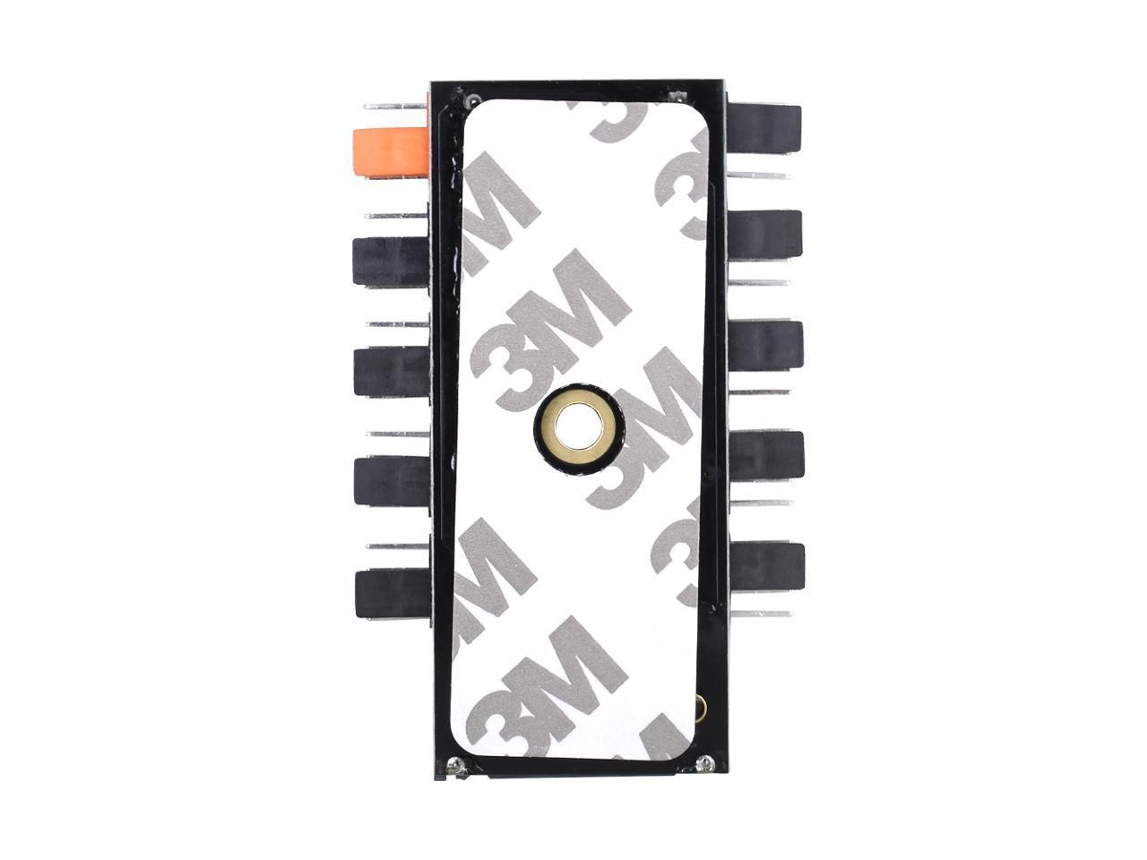 AIGO PWM Fan Hub 1 to 10 4-Pin Cooling Fan with SATA Power Connector