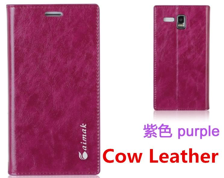 Aimak Cow Leather Lenovo A8 A806 Flip Case Cover Free Screen Protector