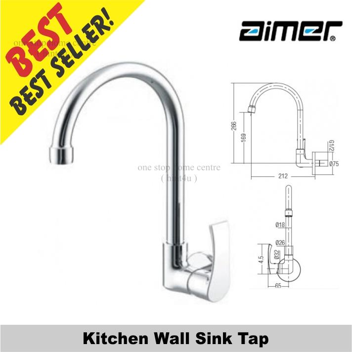 Aimer AMFC 2957 Kitchen Wall Sink Tap