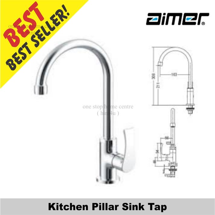 Aimer AMFC 2958 Kitchen Pillar Sink Tap