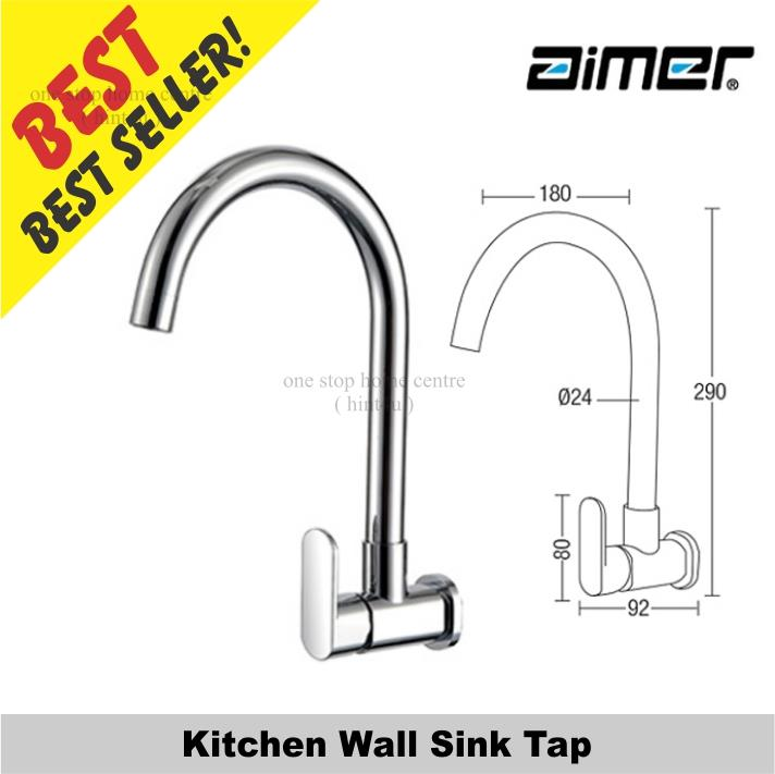 Aimer AMFC 5008 Kitchen Wall Sink Tap