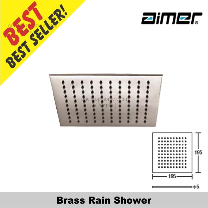 "Aimer AMSH 9408 Brass Rain Shower 8"" X 8"""