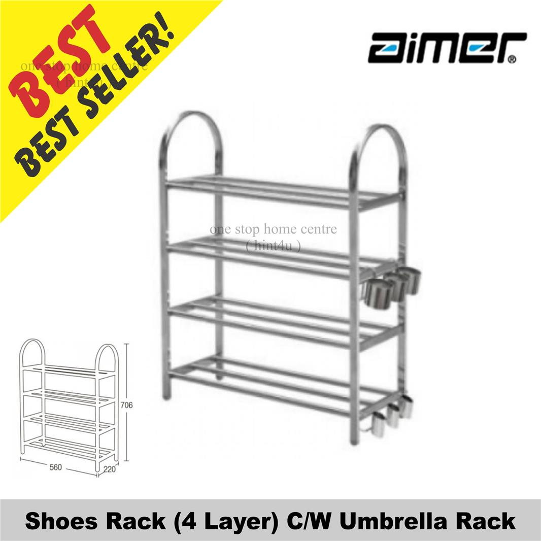 Aimer AMSR 644 Shoes Rack (4 Layer) C/W Umbrella Rack