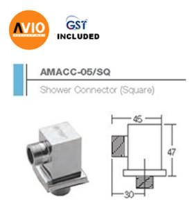 AIMER MALAYSIA AMACC-05/SQ BRASS CHROMED SQUARE SHOWER CONNECTOR