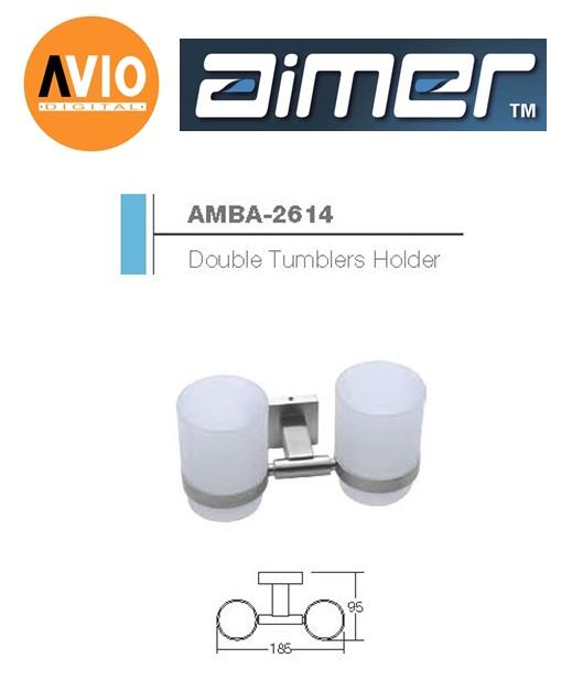 AIMER MALAYSIA AMBA-2614 STAINLESS 304  DOUBLE TUMBLERS HOLDER