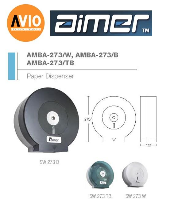 AIMER MALAYSIA AMBA-273/TB ABS TRANSPARENT BLACK PAPER DISPENSER