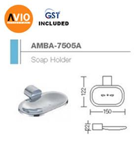 AIMER MALAYSIA AMBA-7505A BRASS CHROMED SOAP HOLDER