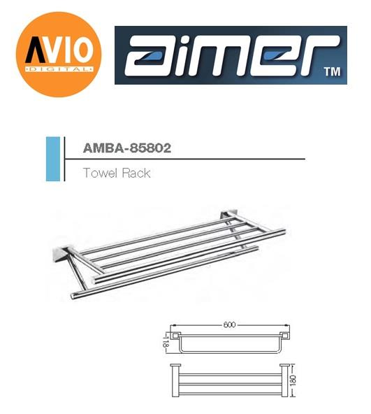AIMER MALAYSIA AMBA-85802 BRASS CHROMED 600MM TOWEL RACK