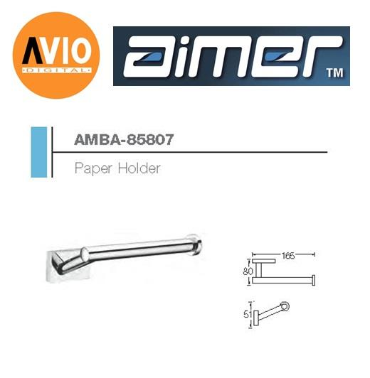 AIMER MALAYSIA AMBA-85807 BRASS CHROMED PAPER HOLDER