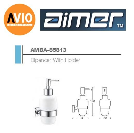 AIMER MALAYSIA AMBA-85813 BRASS CHROMED DIPENCER WITH HOLDER