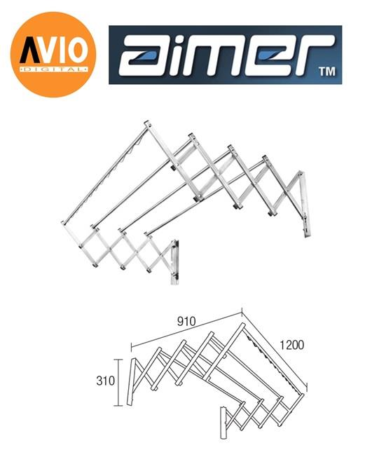 AIMER MALAYSIA AMCH-1636 STAINLESS STEEL CHROME SLIDING CLOTHES HANGER