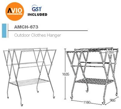 AIMER MALAYSIA AMCH-673 STAINLESS STEEL SP OUTDOOR CLOTHES HANGER