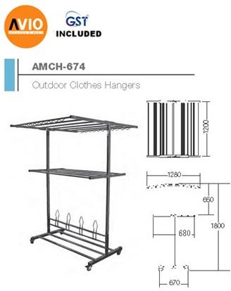 AIMER MALAYSIA AMCH-674 STAINLESS STEEL SP OUTDOOR CLOTHES HANGER