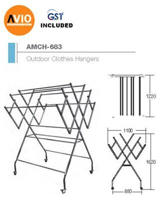 AIMER MALAYSIA AMCH-683 STAINLESS STEEL SP OUTDOOR CLOTHES HANGER