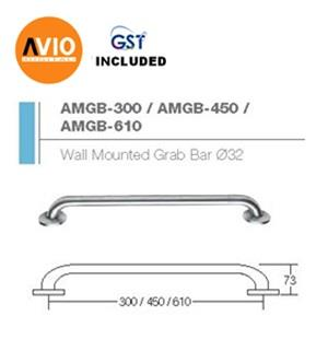 AIMER MALAYSIA AMGB-300 STAINLESS 304 WALL MOUNTED GRAB BAR Ø32