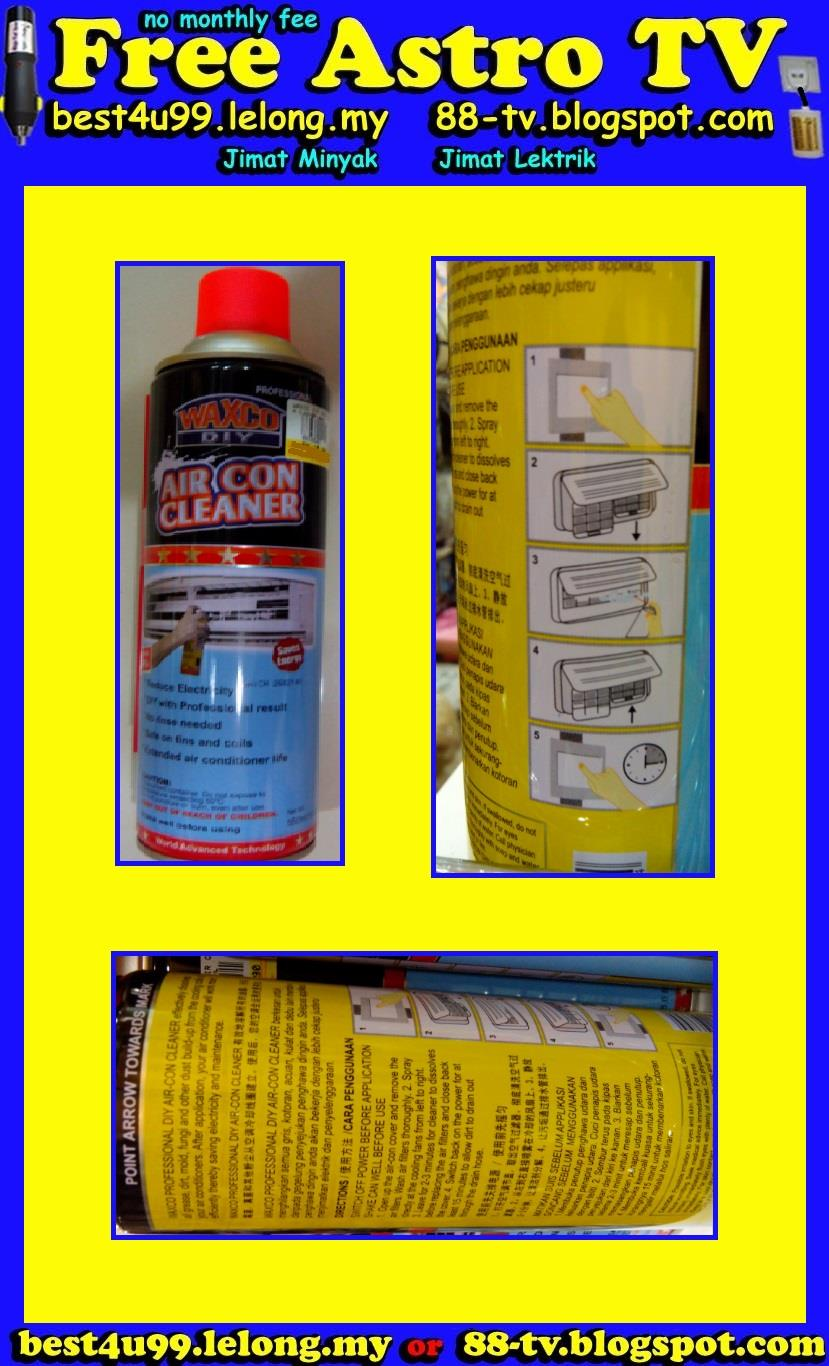 Air-Cond Cleaner Spray Air Conditional Pencuci Air cond Aircon Rumah $