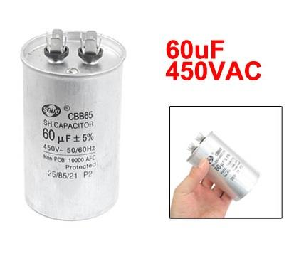 Air Conditioner Motor Run Capacitor CBB65 60uF
