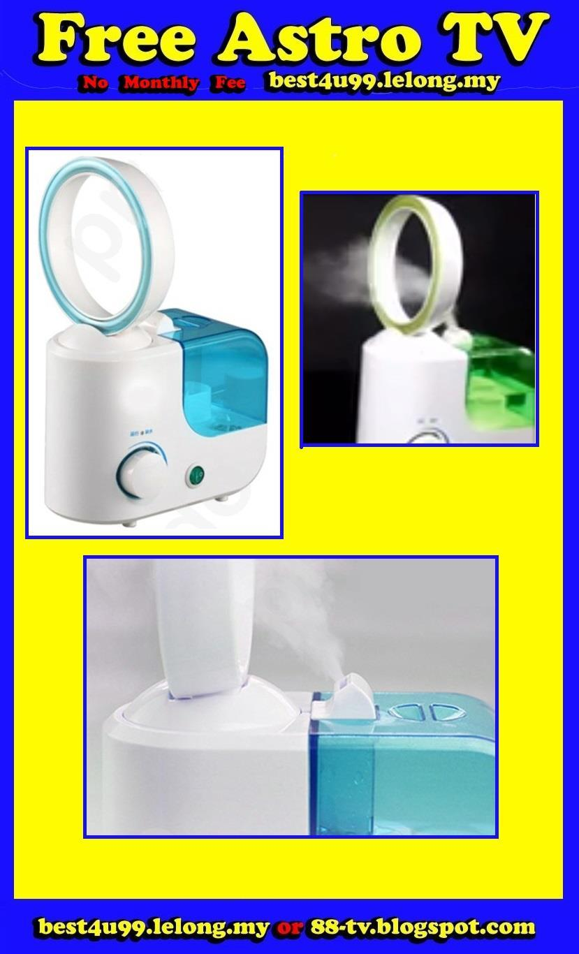Air Conditioning Cooler mist Air Humidifier Bladeless Fan kipas a cond