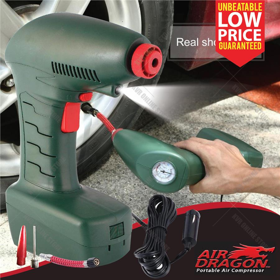 Air Dragon Portable Air Compressor Analog Pressure Emergency Inflator. ‹ ›