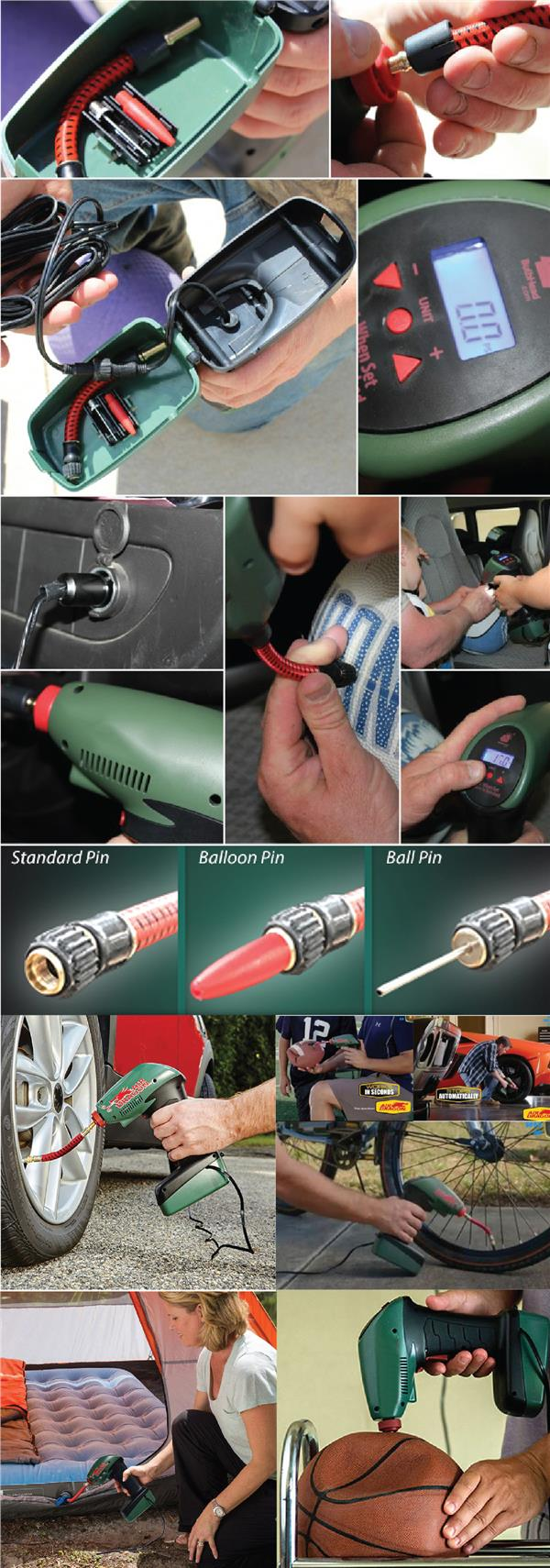 Air Dragon Portable Air Compressor Inflator Emergency Pump Auto Stop