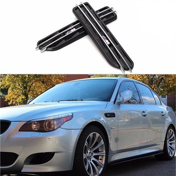 Air Flow Side Fender Vents Mesh Sticker Grille For BMW E60 M5 E61 E39.