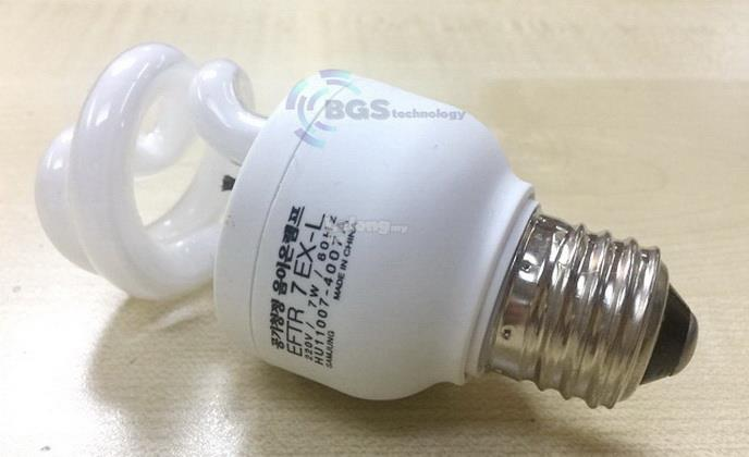 Air purifier negative ion ionic bulb lamp 7W