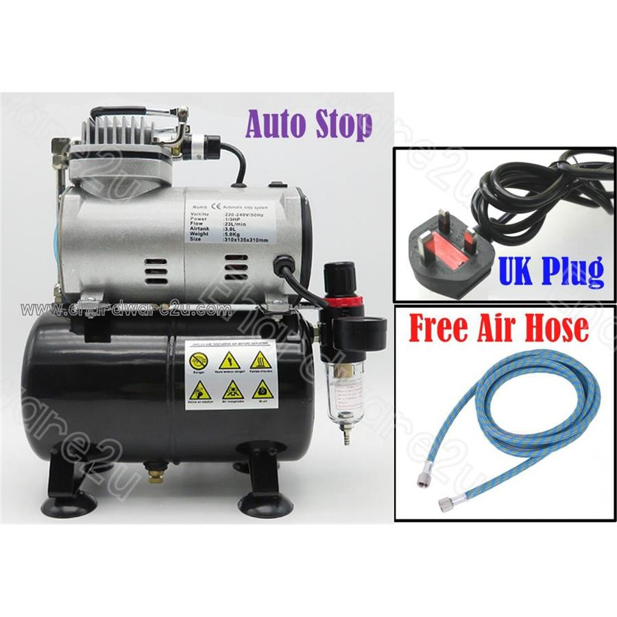 Airbrush Auto stop quite Mini Air compressor with  3L tank