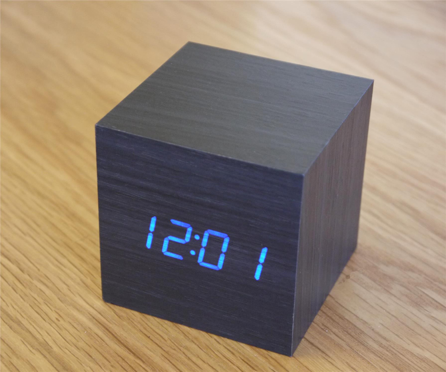 airgear mini wooden cube led alarm c end 7 28 2019 3 15 pm. Black Bedroom Furniture Sets. Home Design Ideas
