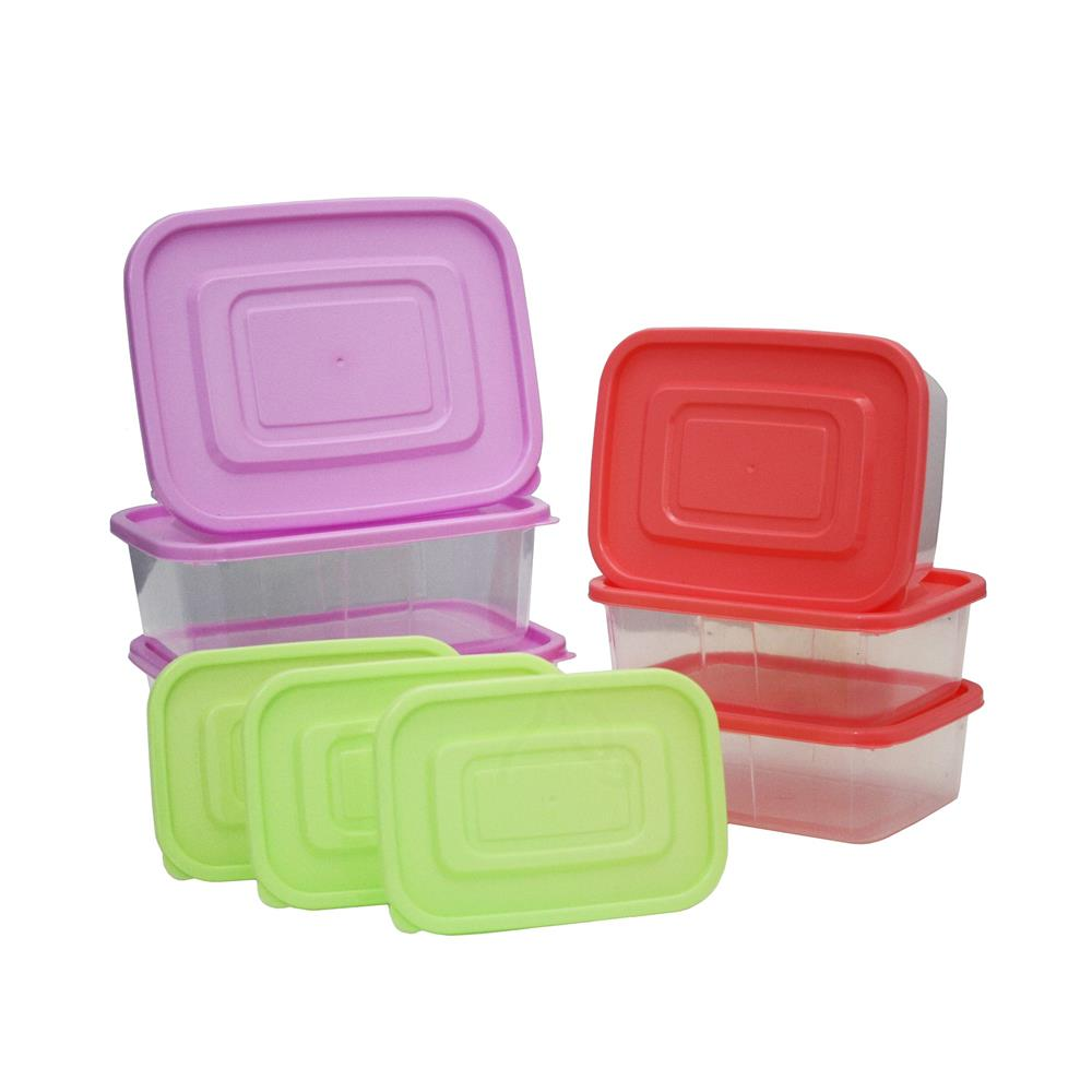 Airtight Crisper Microwavable Plastic food Container 9-piece Set