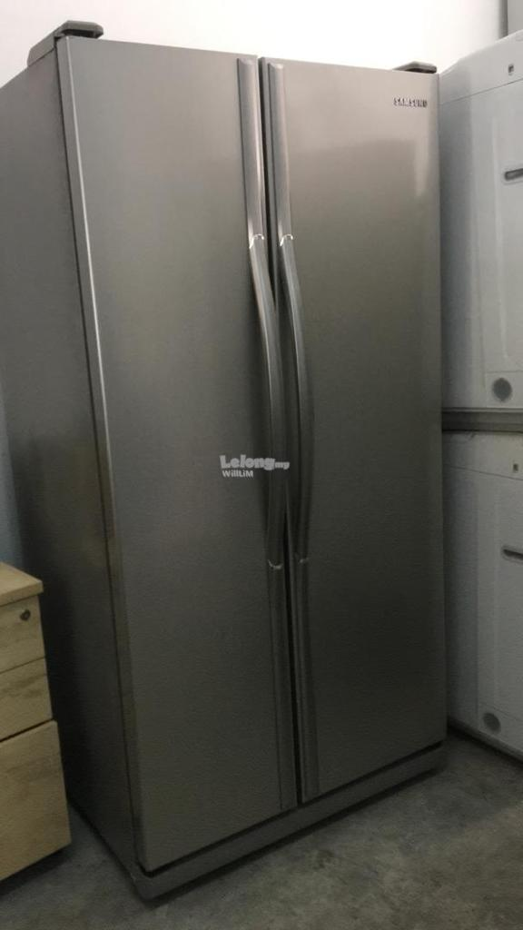 Ais Peti Sejuk Side by Side Samsung Refrigerator Fridge Freezer Recond