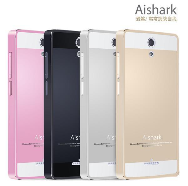 Aishark Oppo Mirror 3 Aluminium Bumper Case Cover Casing +Free SP