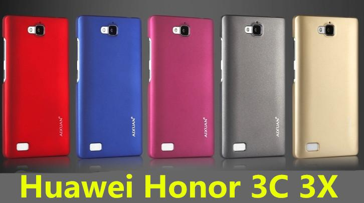Aixuan Huawei Honor 3C 3X Back Case Cover + Free Screen Protector