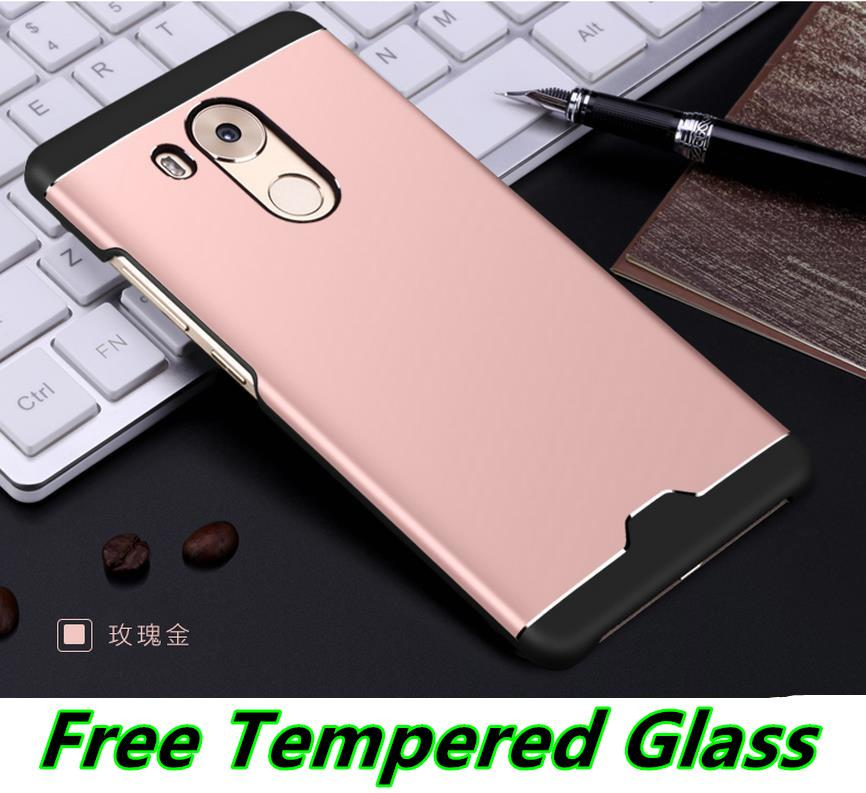 Aixuan Huawei Mate 8 Metal Back Case Cover Casing + Tempered Glass