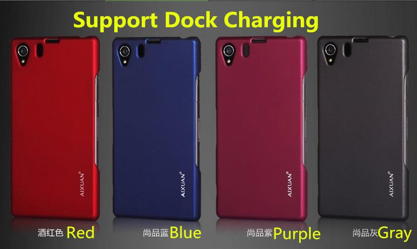 AIXUAN Sony Xperia Z1 L39H Luxury Case Can Support Dock Charging