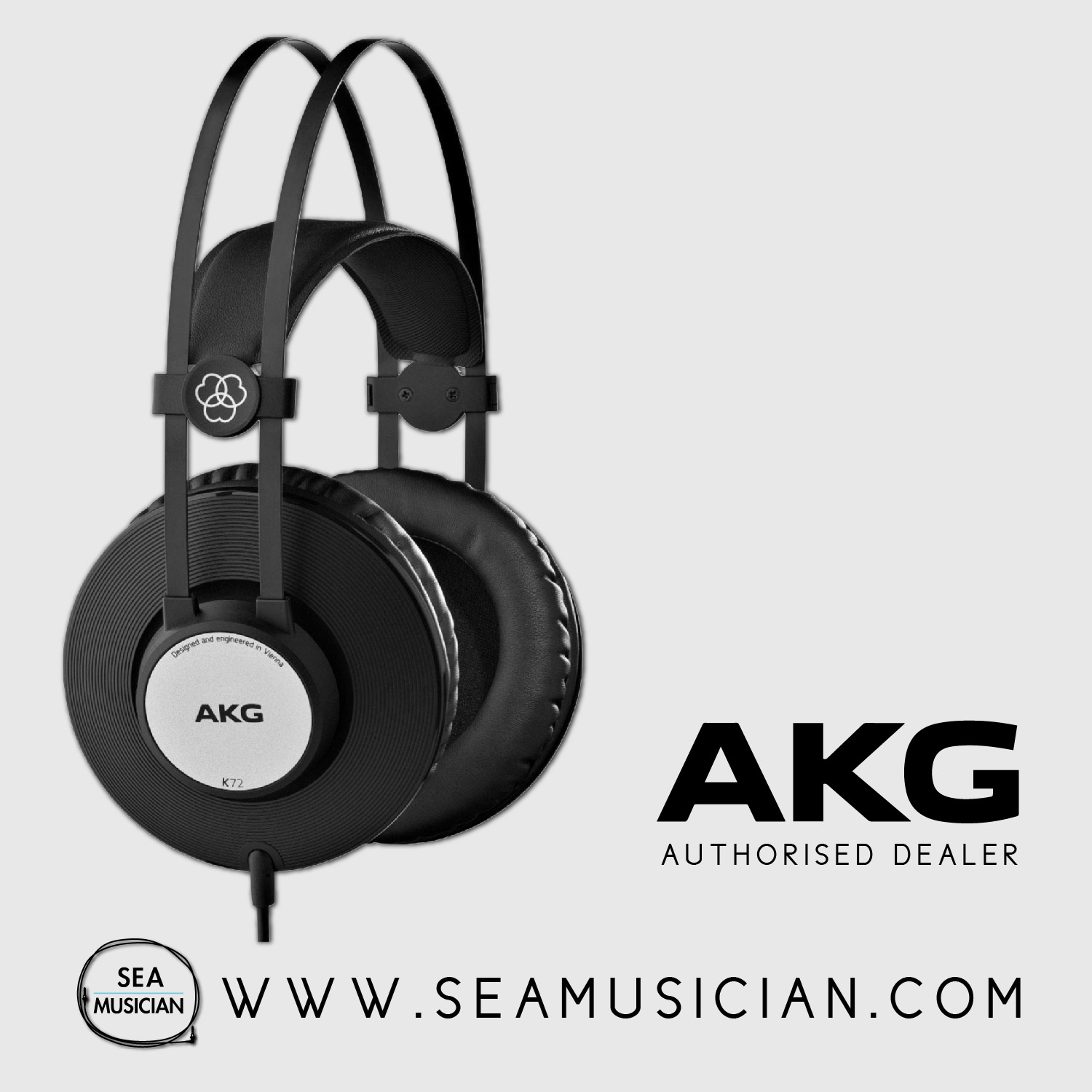 b81060270a7 AKG K72 PRO-AUDIO CLOSED-BACK & OVER-EAR STUDIO HEADPHONES. ‹ ›