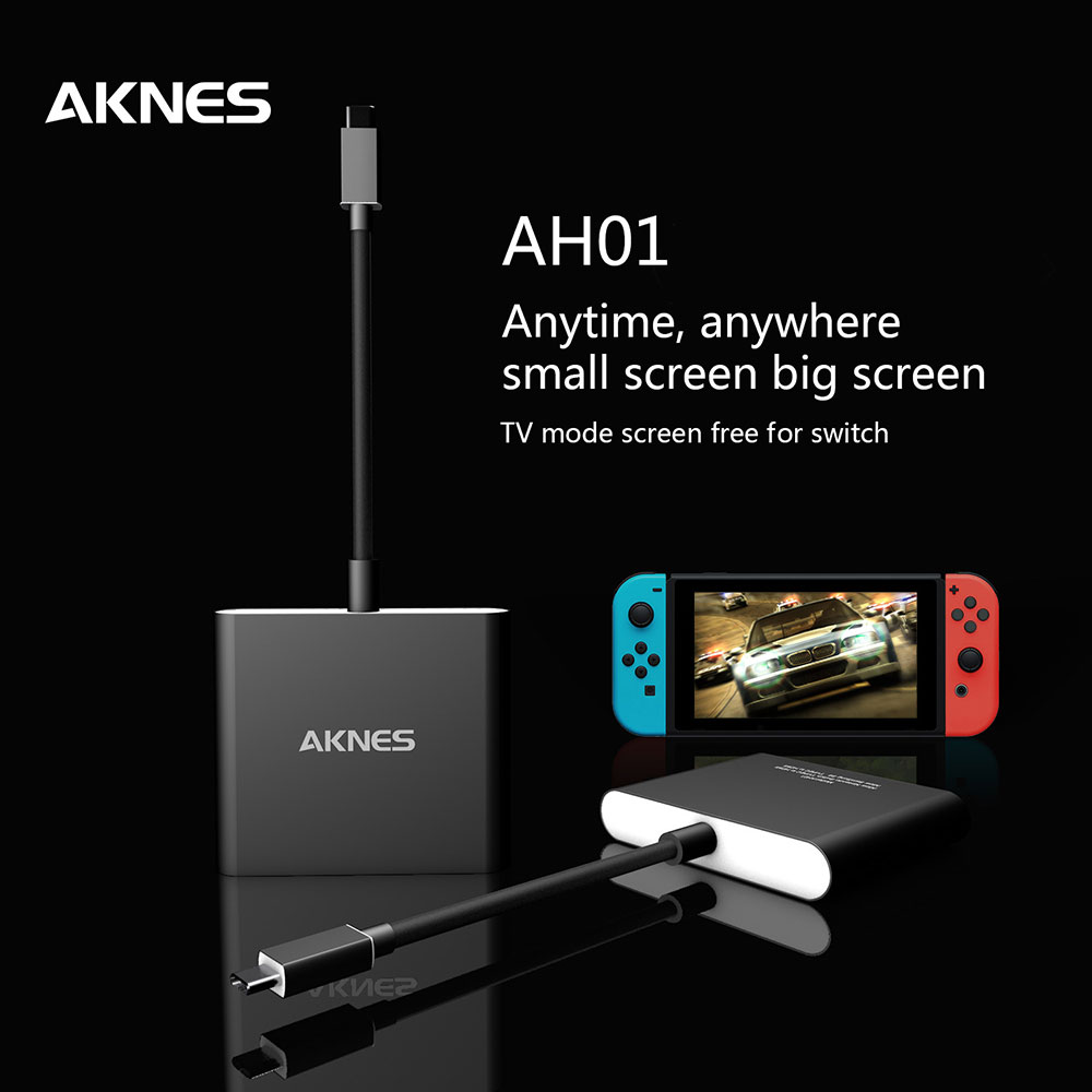 AKNES AH01 Type-C to HDMI Adapter for Switch Samsung TV
