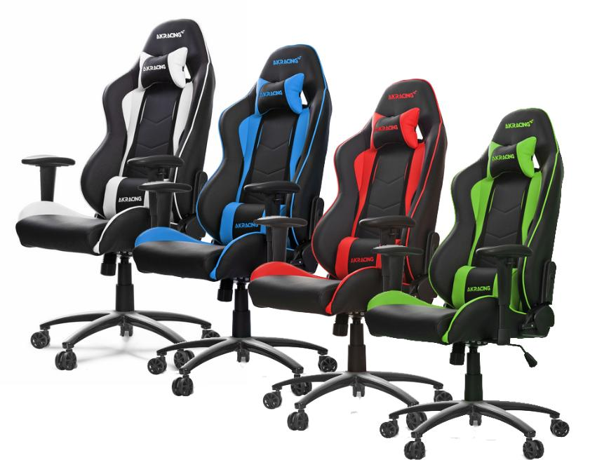 Akracing Nitro Gaming Chair Blue Green Red White