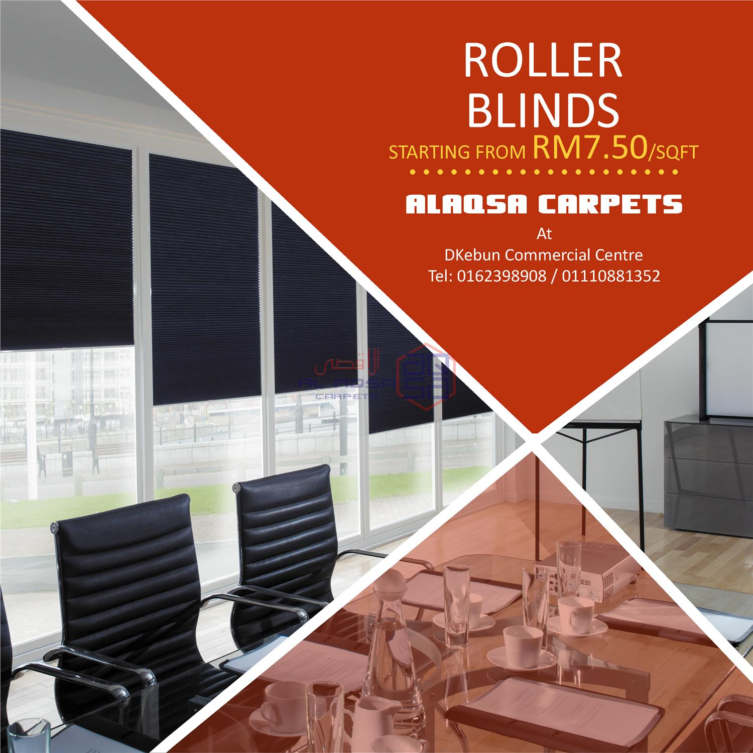 ALAQSA CARPETS ROLLER BLIND SUPPLIER MALAYSIA LOW PRICES FROM RM7.50/S