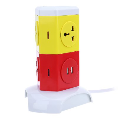 Alardor ALD - 2W4K - L Multicolor Socket Surge Protection